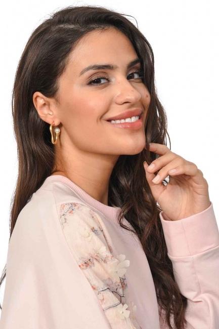 Minimal Design Earrings (St) - Thumbnail