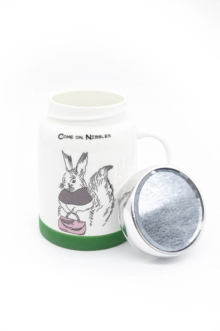 MIZALLE HOME - Mirrored Porcelain Mug (Rabbit) (1)