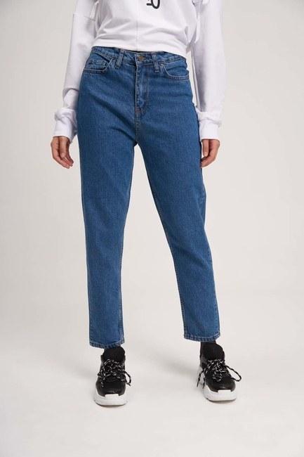 Mom Denim Pantolon (Mavi) - Thumbnail