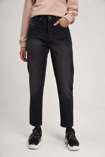 MIZALLE YOUTH - بنطلون جينز أمي (أسود) (1)