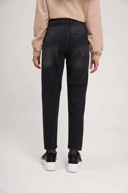 Mom Denim Pantolon (Siyah) - Thumbnail