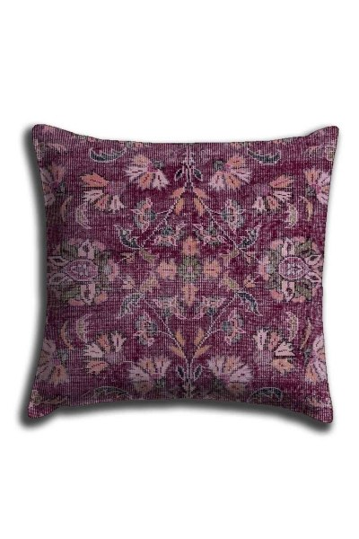 Digital Printed Ethnic Lace Pillow Cover (44X44) - Thumbnail