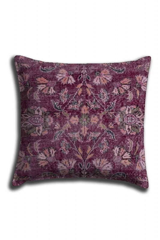 Digital Printed Ethnic Lace Pillow Cover (44X44)