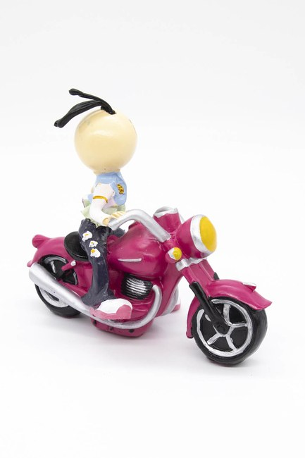 MIZALLE HOME - Motorcycle Decorative Trinket (Pink) (1)