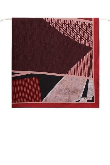 Mozaik Desenli Eşarp (Kırmızı) - Thumbnail