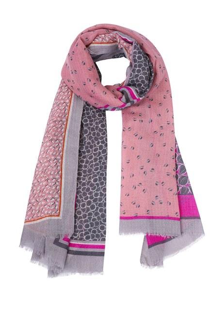 Mizalle - Multi Pattern Shawl (Pink) (1)