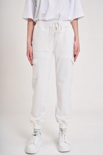 MIZALLE YOUTH - Multi-Pocket Three Yarn Trousers (Ecru) (1)