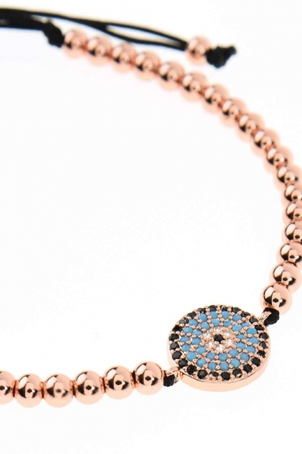 MIZALLE - Evil Eye Bead Bracelet (St) (1)