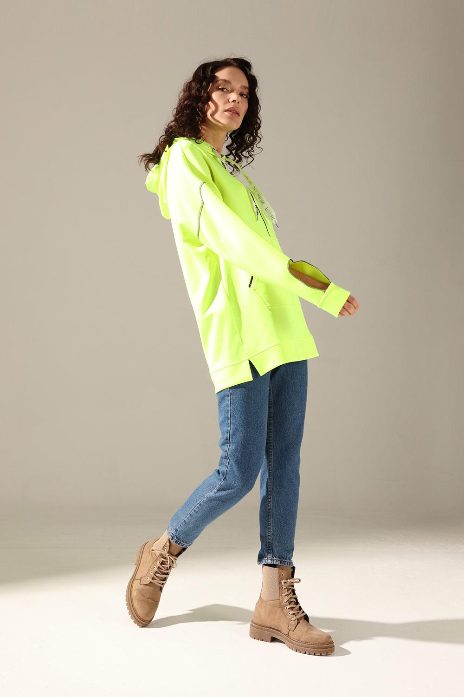 Neon Karyoka Yesil Sweatshirt