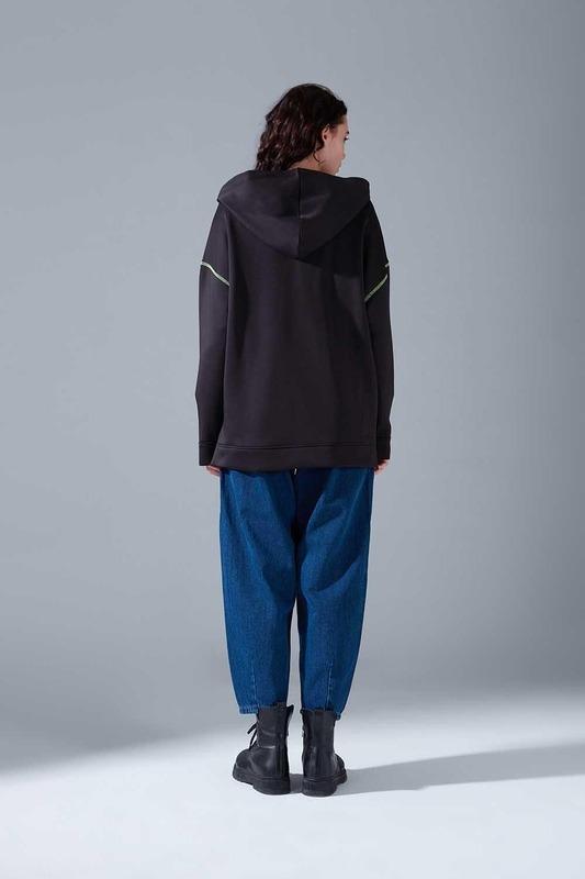 Neon Karyoka Sweatshirt (Siyah)