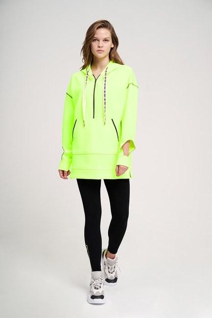 MIZALLE YOUTH - Neon Karyoka Sweatshirt (Sarı) (1)