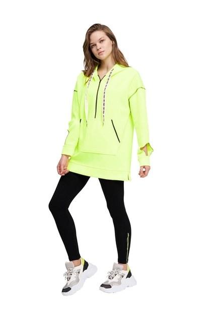 MIZALLE YOUTH Neon Karyoka Sweatshirt (Sarı)