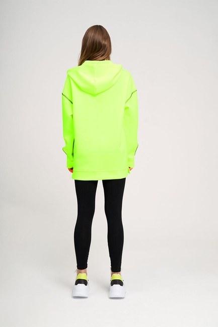 Neon Karyoka Sweatshirt (Sarı) - Thumbnail