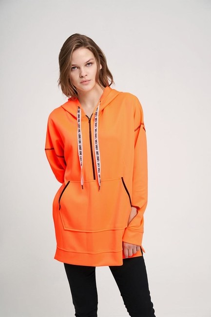 Neon Sweatshirt (Orange) - Thumbnail