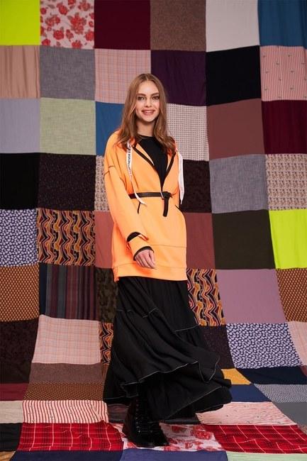 Neon Karyoka Sweatshirt (Turuncu) - Thumbnail
