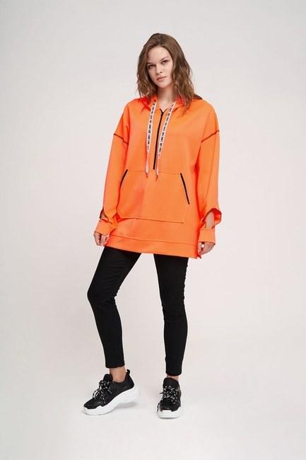 MIZALLE YOUTH - Neon Karyoka Sweatshirt (Turuncu) (1)