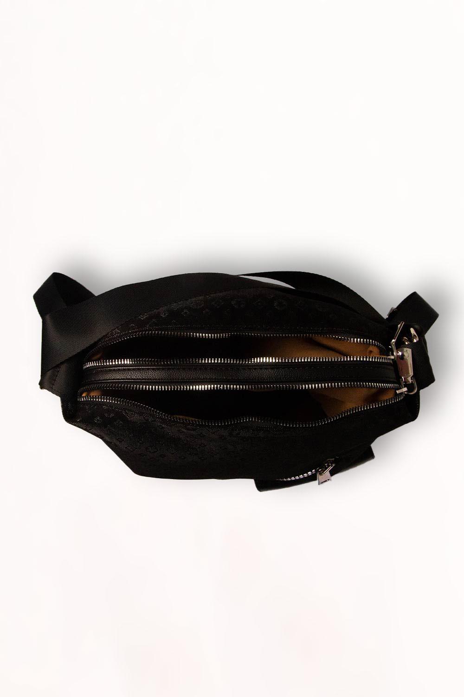 Nubuk Görünümlü Omuz Çantası (Siyah)