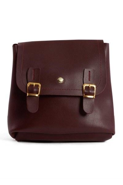 MIZALLE حقيبة ظهر نسائية مع مقدمة انجذاب (لون عنابي)