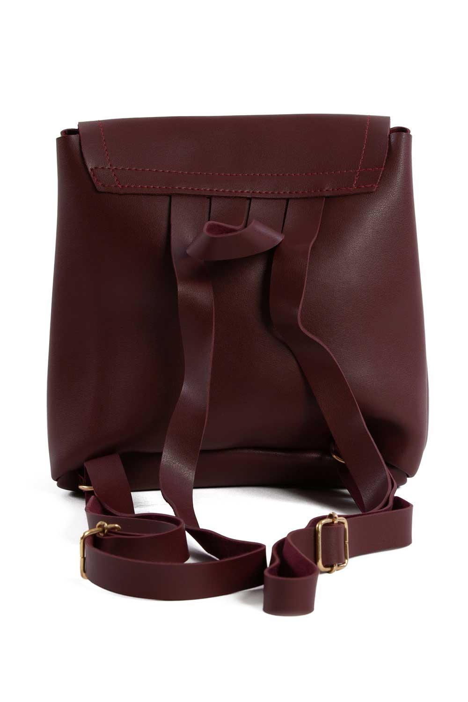 MIZALLE حقيبة ظهر نسائية مع مقدمة انجذاب (لون عنابي) (1)