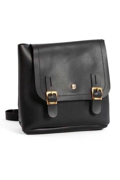 MIZALLE حقيبة ظهر نسائية مع الجبهة الإضافية (أسود)