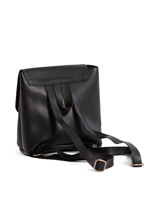 MIZALLE حقيبة ظهر نسائية مع الجبهة الإضافية (أسود) (1)
