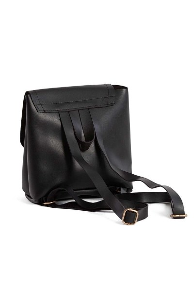 MIZALLE - حقيبة ظهر نسائية مع الجبهة الإضافية (أسود) (1)