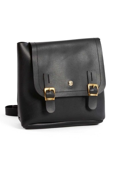 MIZALLE Front Snap-on Women's Backpack (Black)