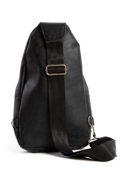 MIZALLE - Front Zippered Mini Bag (Black) (1)