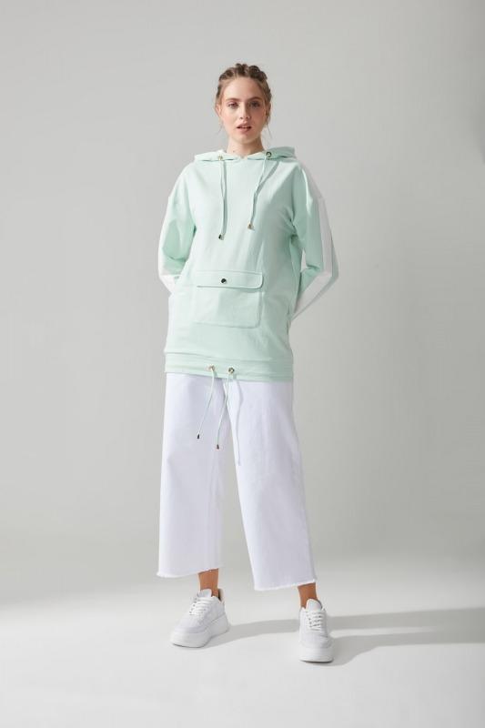 Önü Cepli Sweatshirt(Mint)