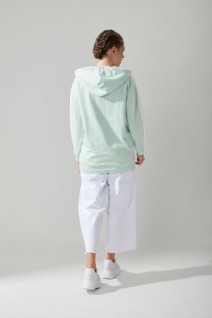 Önü Cepli Sweatshirt(Mint) - Thumbnail
