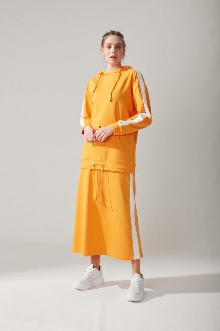 Mizalle - Kapüşonlu Mango Sweatshirt