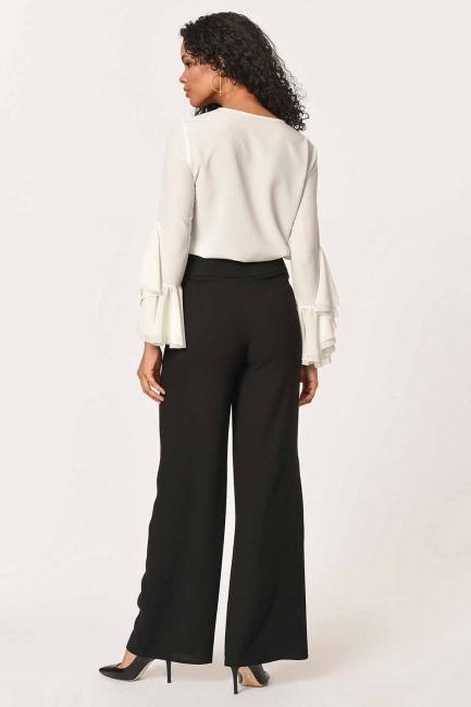 Front Frilly Pants (Black) - Thumbnail