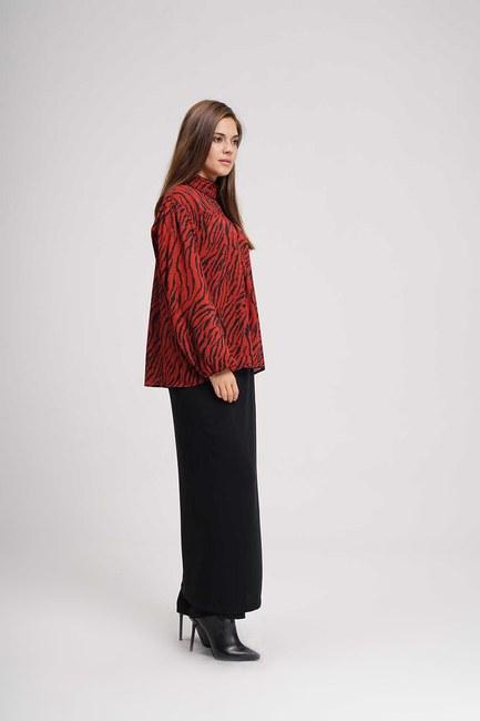MIZALLE - Front Robe Blouse (Claret Red) (1)