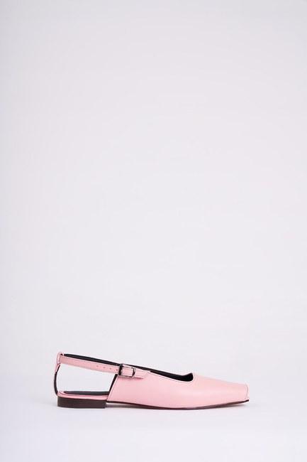 Mizalle - Open Toe Shoes (Pink) (1)