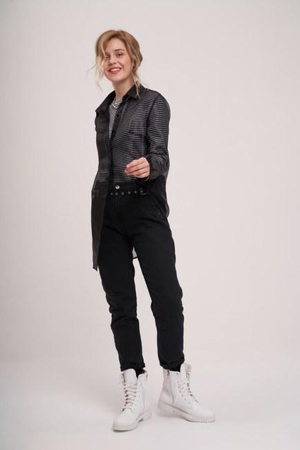 MIZALLE YOUTH - قميص اورجانزا (أسود) (1)