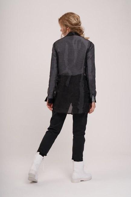 Organza Shirt (Black) - Thumbnail