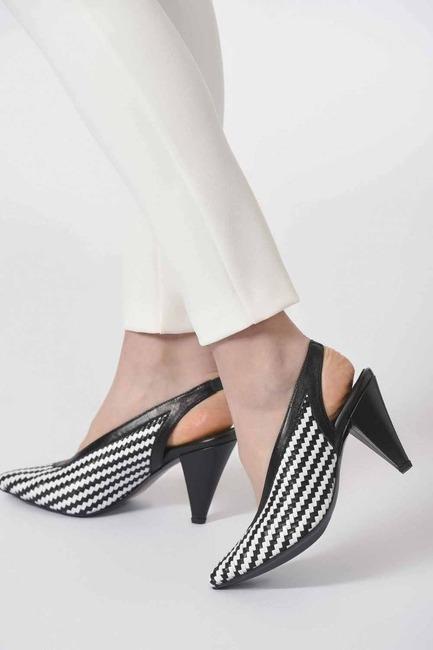 Örgü Detaylı Deri Ayakkabı - Thumbnail