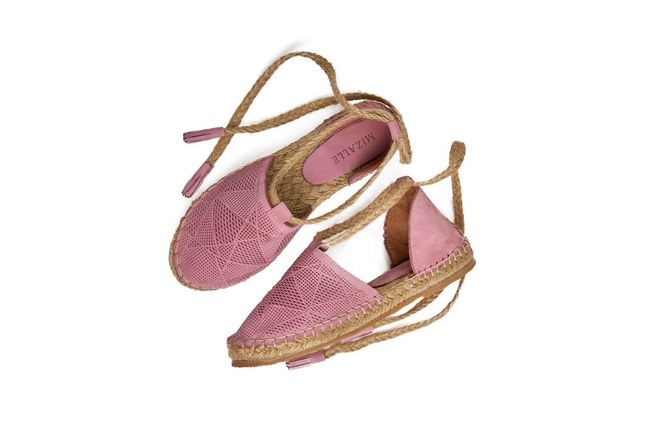 Örgü Detaylı Nubuk Ayakkabı (Pembe) - Thumbnail