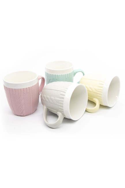 MIZALLE HOME - Braided Quadruple Mug Set (Mix) (1)