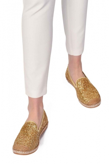MIZALLE Braided Espadrille (Gold)