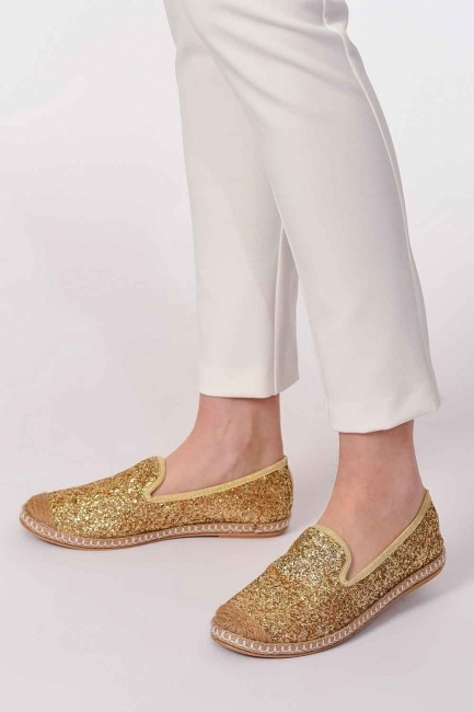 MIZALLE - Braided Espadrille (Gold) (1)