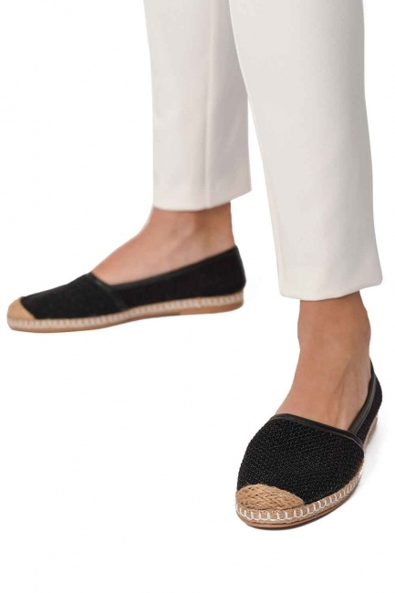 MIZALLE Braided Espadrille (Black)