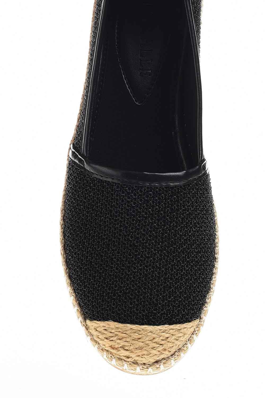 MIZALLE Örgülü Espadril (Siyah) (1)