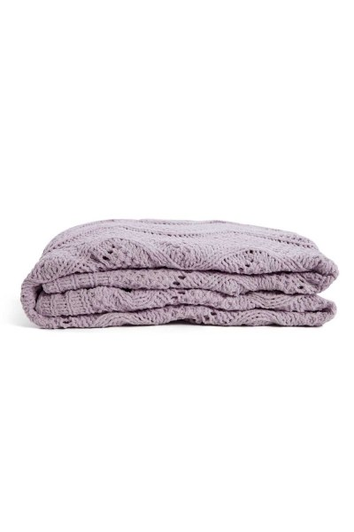MIZALLE HOME Braided Lilac Seat Shawl (130X170)