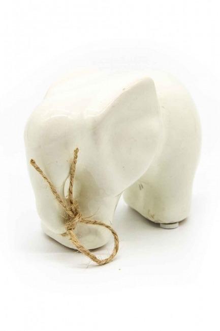MIZALLE HOME - Orta Boy Fil Biblo (Beyaz) (1)