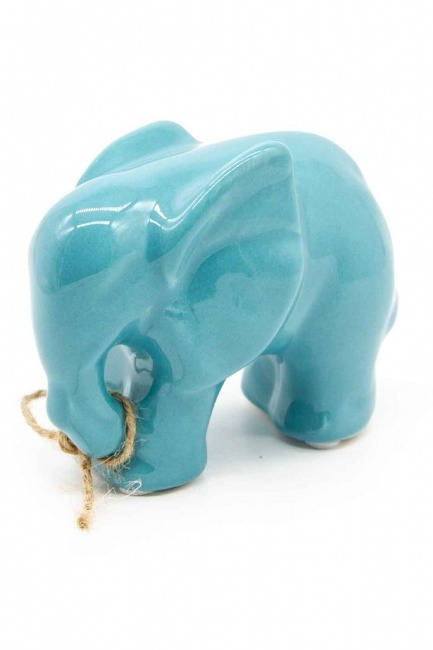 MIZALLE HOME - Orta Boy Fil Biblo (Mavi) (1)