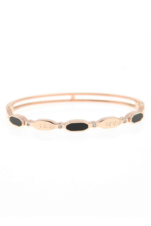 MIZALLE Oval Steel Bracelet (St) (1)