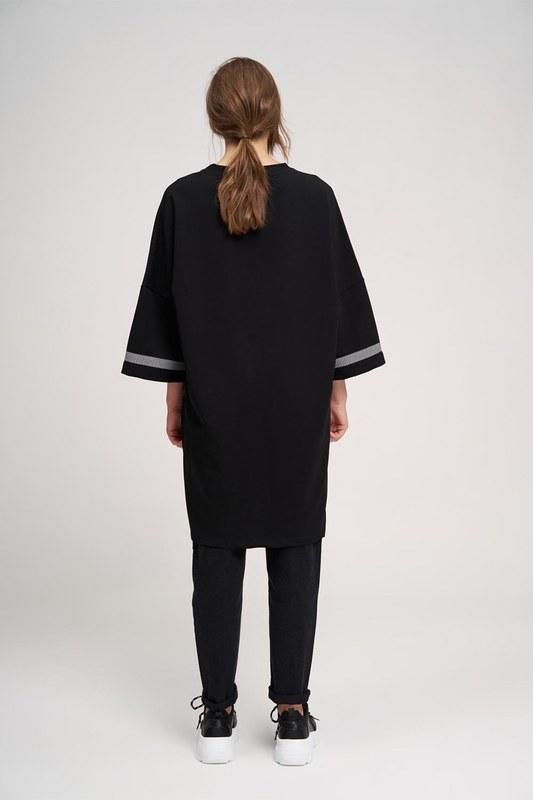 Over Uzun Sweatshirt (Siyah)