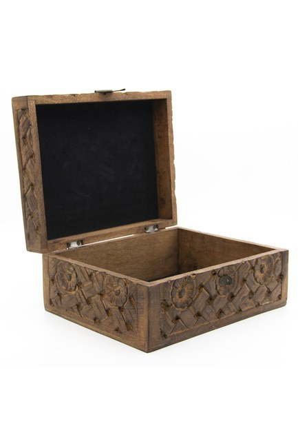 MIZALLE HOME - Carved Large Jewelry Box (19x24) (1)