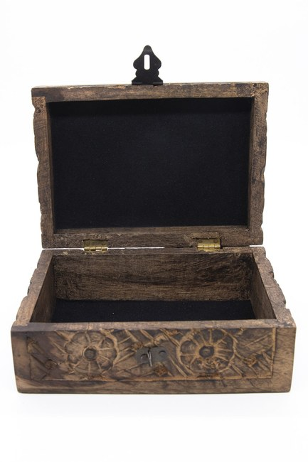 MIZALLE HOME - Carved Large Jewelry Box (12x18) (1)